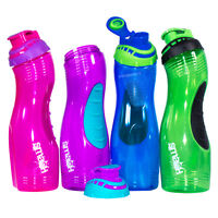 Large 800ml Sports Slim Water Drinks Bottle BPA Free Plastic Travel Gym Exercise