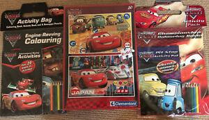 Lightning McQueen Disney 2x Kids Puzzles (cars1&2)+ 2x colouring books Brand New
