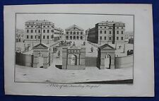 Original antique print LONDON, FOUNDLING HOSPITAL, Cole, Maitland, 1756
