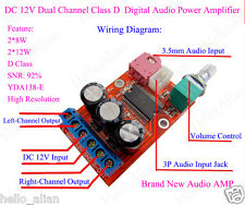 DC 9V 12V 2*12W YDA138-E Digital Audio Verstärker Board Class D 3.5mm audio Jack