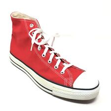 Men's VINTAGE Converse All Star High Top Shoes Sneaker Size 12M Red Made USA M14
