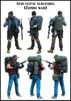 1/35 1:35 Resin Figure Model Kit Apocalypse Survivors (Zombie War) 2 Figures