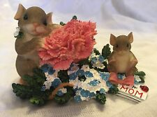 "Charming Tails ""A Mothers Love Blooms Forever"" Fitz And Floyd Carnation Baby"