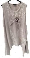 Damenkleid Sommerkleid von Sarah Santos Natur Gr.XL  Lagenlook  MADE IN ITALY