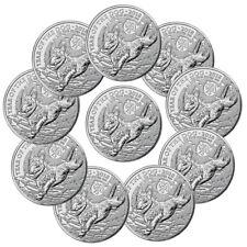 Lot of 10 -2018 Great Britain Year of Dog 1 oz Silver Lunar £2 Coins BU SKU49816