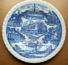 Vernon Kilns collector plate~Kansas City~artist signed~Melinda shape~Blue-Nr