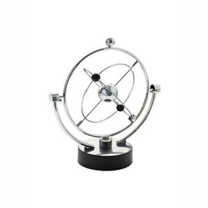 Electronic Perpetual Motion Toy Kinetic Art Home Decor Education Desk Gyroscope