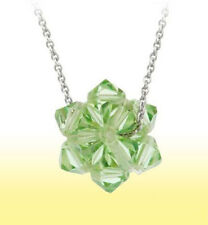 """Sterling Silver GREEN Ball Pendant made with SWAROVSKI Elements 18"""" Chain"""