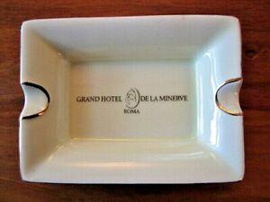 Grand Hotel De La Minerve, Rome, Italy, Vintage Ceramic Ashtray