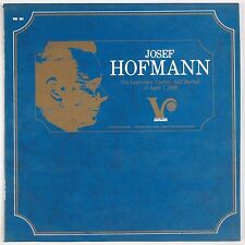 JOSEF HOFMANN: Legendary Casmir Hall Recital VERITAS Scarce LP NM- '67 ORIG