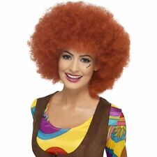 Adult Ladies 60s 70s Disco Diva Funky Auburn Afro Wig Fancy Dress Accessory