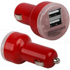 ROSSO DOPPIO USB DA AUTO CARICABATTERIE ADATTATORE PER ONEPLUS UNICA,2,3,3T