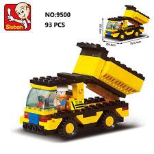 Sluban B9500 City Yellow Dump Truck Figure Building Block Toy Compatible