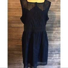 Womens navy blue Asos Curve summer dress 20 plus size