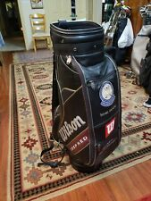 """WILSON DEEP RED STAFF BAG BLACK 9.5"""" PGA EMBROIDERED  CREST EXCELLENT CONDITION!"""