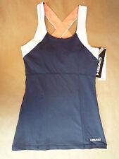 NWT HEAD Extra Small XS Navy Coral White Tennis Golf Sports Tank Top Shirt