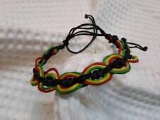 Crochet wristband BRACELET bob marley jamaiga handmade HIPPIE RASTA BOHO REGGAE