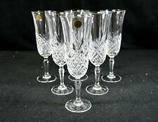 Set of 6 Cristal D'Arques Crystal Champagne Flutes - Masquerade