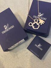 Nib Rare Swarovski Disney Mickey Mouse Crystal Necklace Box & Certificate 872503