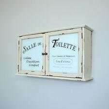 Cream bathroom wall cabinet shabby french chic cupboard unit shelving storage