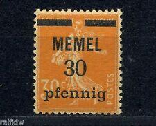 Memel 30 pfennig Aufdruck 1920** GC Papier Michel 21 x geprüft (S8213)