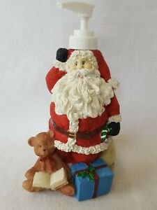 Resin Santa Claus With Christmas Gifts and Bag Soap or Lotion Dispenser