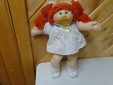 VINTAGE CABBAGE PATCH KIDS  18 INCH DOLL   RED HAIR PACIFIER SHOES SOCKS  EUC