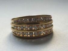 CHANEL Set Diamante Eternità 18k Oro Giallo Anello Trilogy