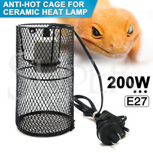 200W E27 Reptile Ceramic Heat Lamp Holder Light Bulb Switch Cage Pet Brooder