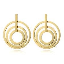 Delicate Filigree Multi Hoop Large Circles Stud Earrings Women Fashion Jewelry