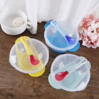 Baby feeding suction bowl set slip-resistant tableware temperature sensing spoon