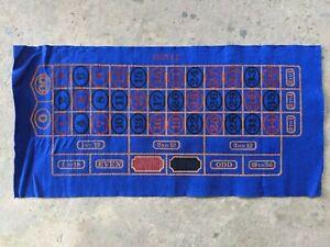 """Vintage Las Vegas Casino 18x36"""" Roulette Felt Layout"""