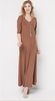Attitudes by Renee Regular Solid Maxi Dress - Coconut - Large