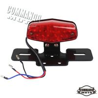 E-Marked LED Lucas Type Tail Light Rear Brake Taillights For Harley Cafe Racer