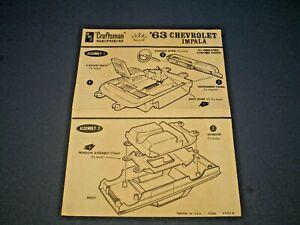 "AMT ""1963 Impala Craftsman Series "" Original model kit Instruction sheet"