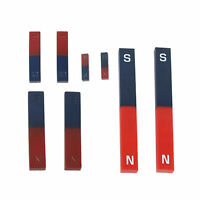 2X Bar Magnet NS Red Blue Magnetic Physical Experiment Field 36/70/110/180mm