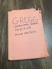 Gregg Shorthand Manual, Simplified by John R. Gregg (1955, Hardcover) 2nd Ed.