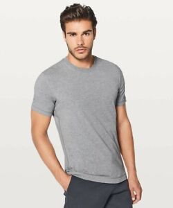 NWT Lululemon 5 year Basic Tee Shirt SS Heathered Core Medium Gray Men's Size S