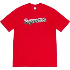 Supreme Chrome Logo Tee Red Size Large L SS20 2020 T-shirt Tshirt Maglietta