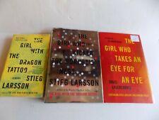 Lot of 3 STIEG LARSSON & AGERCRANTZ Books Girl With Dragon Tattoo Kicked Hornets