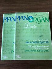 Lot Of 2 John Innes Piano Organ Duet Books Sheet Music Religious Devotional 1978