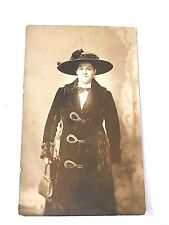 Vintage Lady In Coat and Hat Postcard Photographers D.H. Strine York, PA