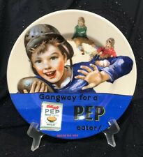 "Vintage KELLOGG'S PEP Bran Flakes-8"" Plate"