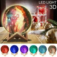 3D Printed LED Moon Night Light Moon Lamp Touch/Remote Control USB Xmas Gift USA