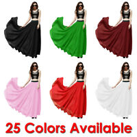 Women Maxi Skirt Summer Chiffon Mopping Floor Length Big Hem Solid Beach Long