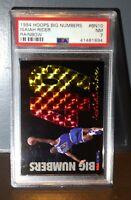 1994 Isiah Rider Hoops Big Numbers Rainbow #BN10 Basketball Card, PSA 7 NEAR MT