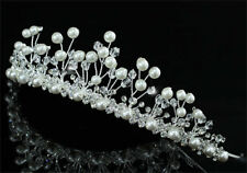 Bridal Wedding Pageant Tiara Prom Accessories Faux Pearl AT1427