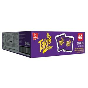 Barcel Takis Fuego Hot Chili Pepper & Lime Tortilla Chips 1oz. x 46-Pack