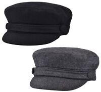 Womens Girls or Mens Fiddler Cap Ladies Baker Boy Hat Newsboy Cap Bretton Hat