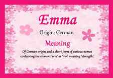 Emma Personalised Name Meaning Certificate